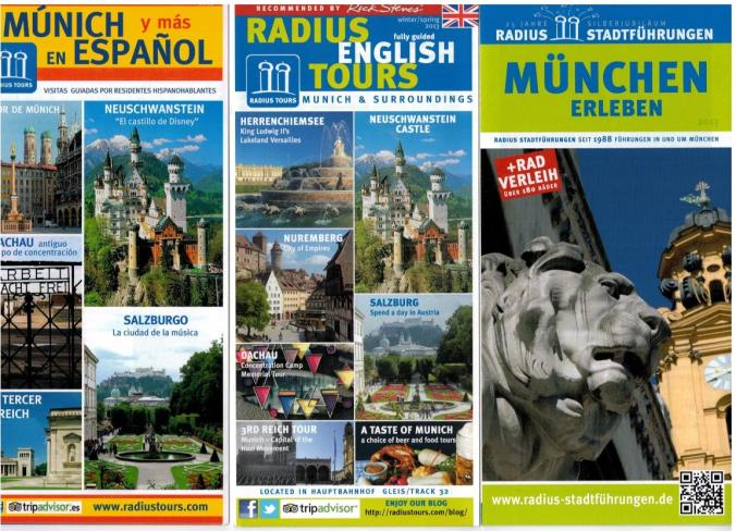 We offer a large variety of tours in English, Spanish and German.